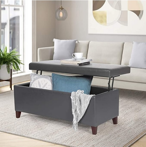 Faux Leather Lift Top Coffee Tables